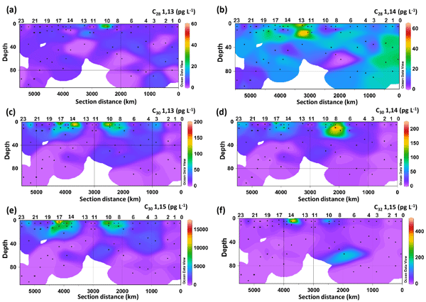 c8e77b49f A quest for the biological sources of long chain alkyl diols in the western  tropical North Atlantic Ocean
