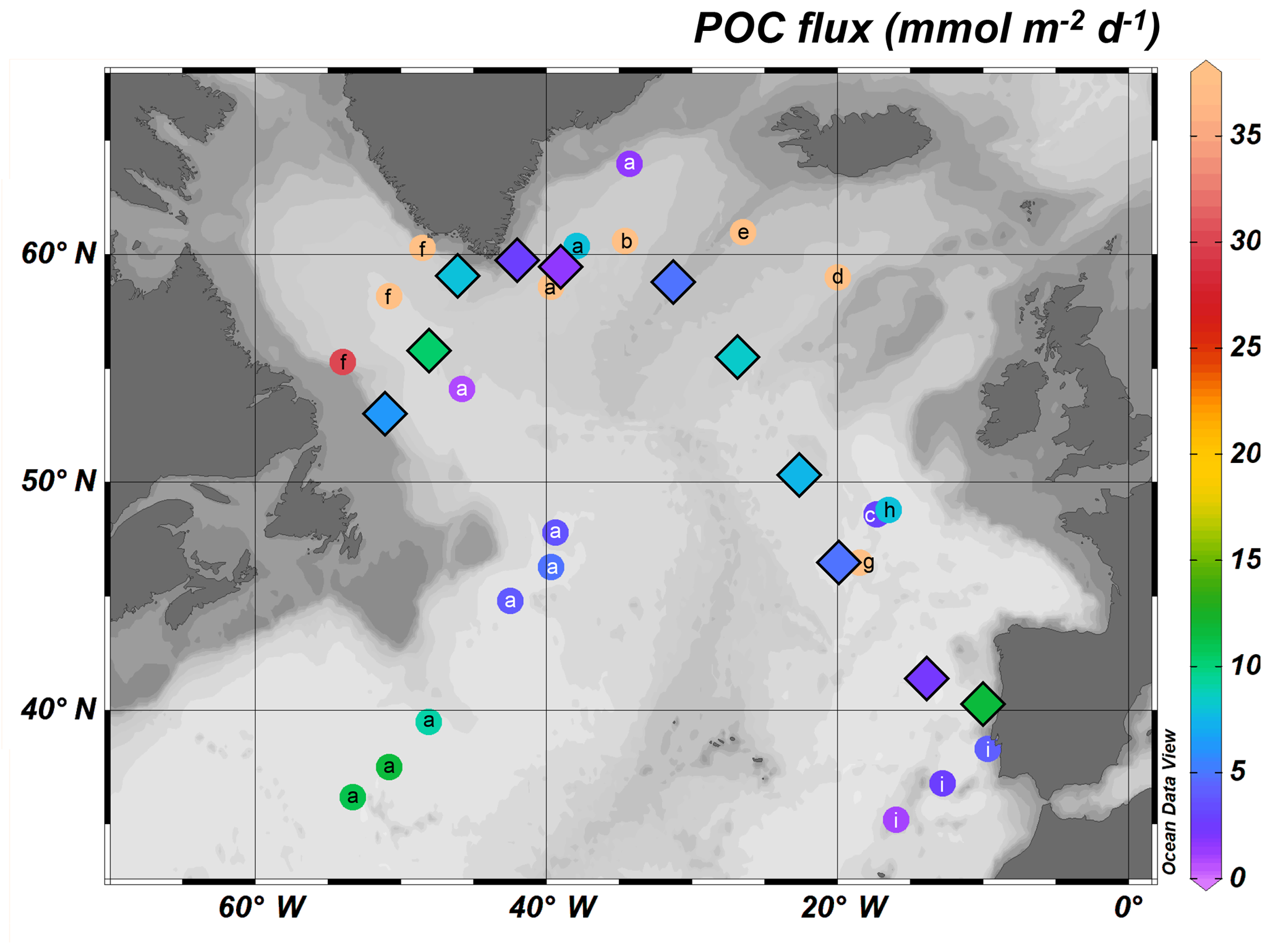 BG - High variability of particulate organic carbon export along the