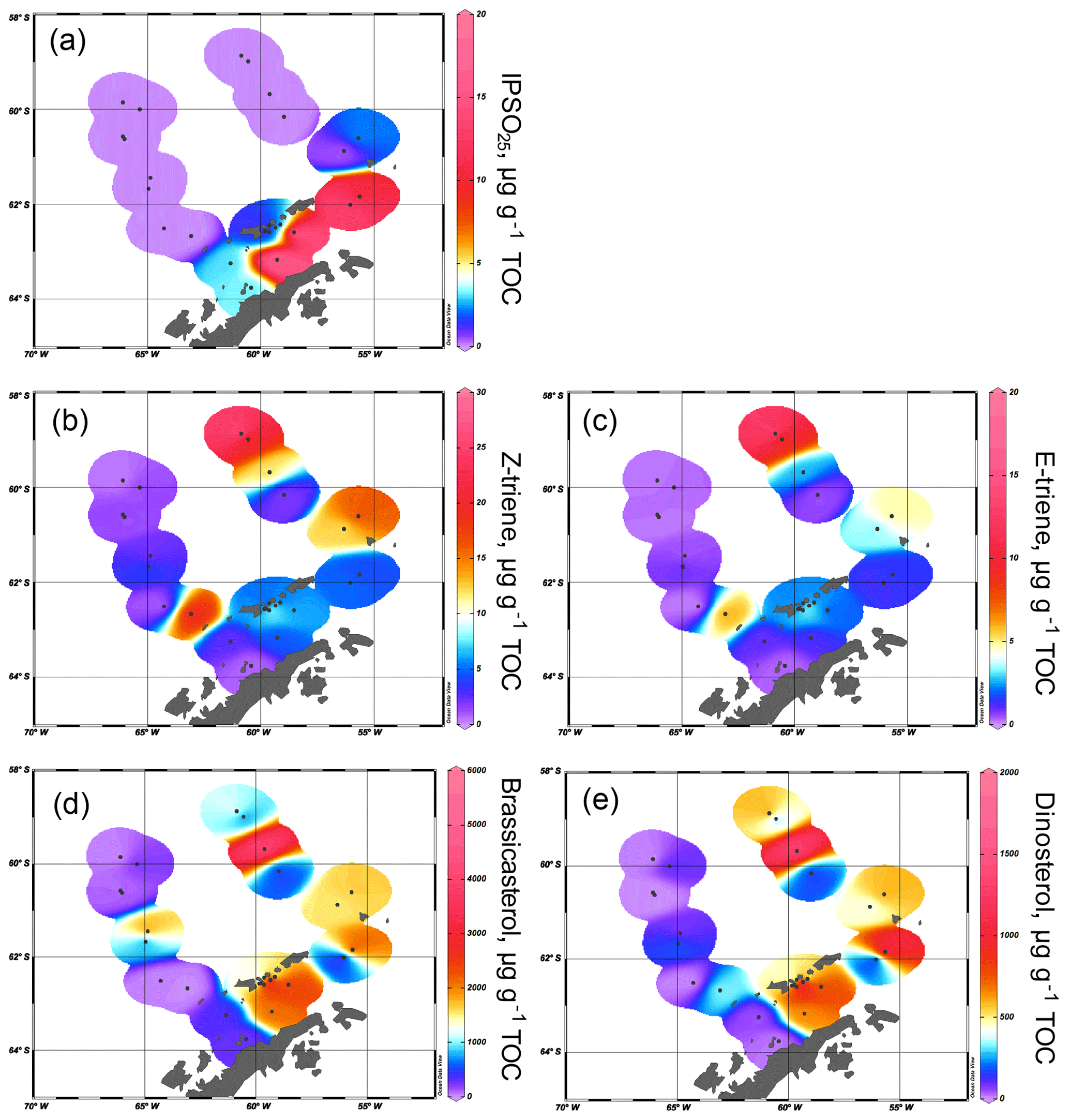 BG - Highly branched isoprenoids for Southern Ocean sea ice