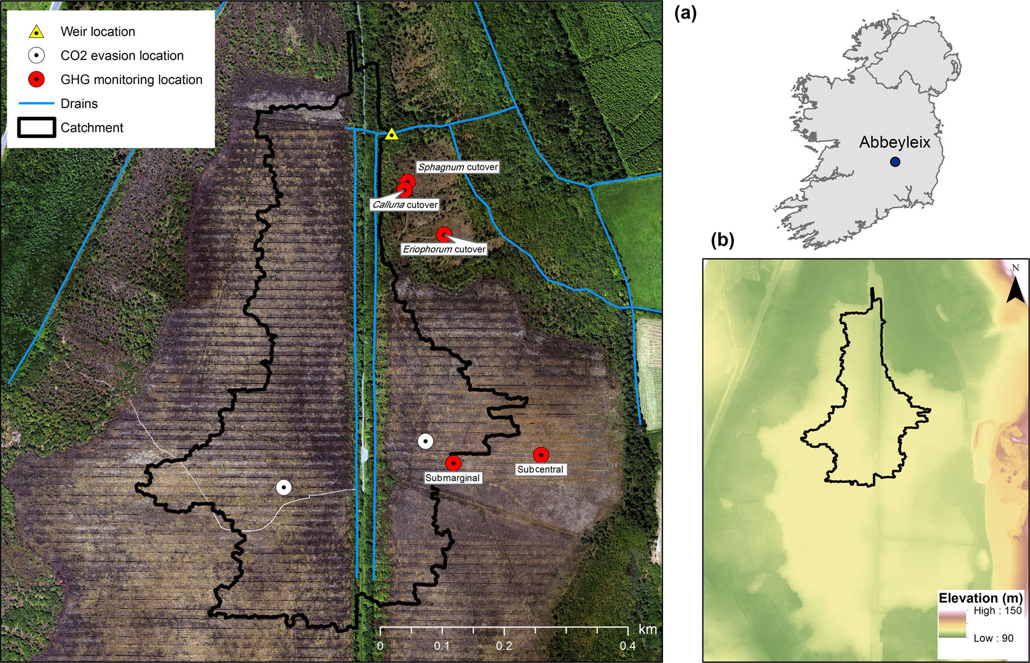 BG - Carbon balance of a restored and cutover raised bog